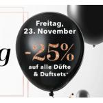 Douglas Black Shopping Day 2018 – 25% Rabatt auf Düfte & Duftsets
