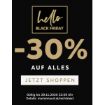 Marionnaud Black Friday Week 2019 – 30 % Rabatt auf reguläre Ware