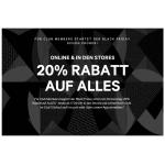H&M Black Friday 2018: 20 % Rabatt auf ALLES