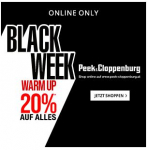 Peek&Cloppenburg Black Friday Warm Up – 10 % Rabatt auf ALLES