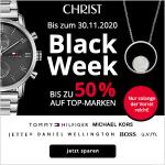 CHRIST Black Week 2019: Bis zu 50 % Rabatt auf Uhren- & Schmuck