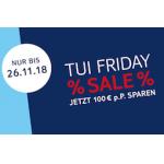 TUI Friday Sale – 100€ Rabatt auf Paketbuchungen