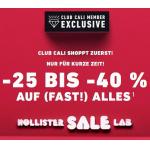 Hollister Black Friday 2020 – 25 % bis 40% Rabatt im ganzen Shop
