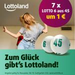 Lottoland Black Friday: 7 Tippfelder Lotto 6aus45 um 1 € statt 8,40 €